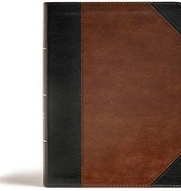 CSB Tony Evans Study Bible--soft leather-look, black/brown (indexed)