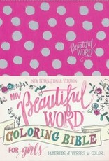 NIV Beautiful Word Coloring Bible for Girls Pink, Imitation Leather