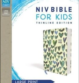 NIV Bible for Kids, large Print, Turq Hearts