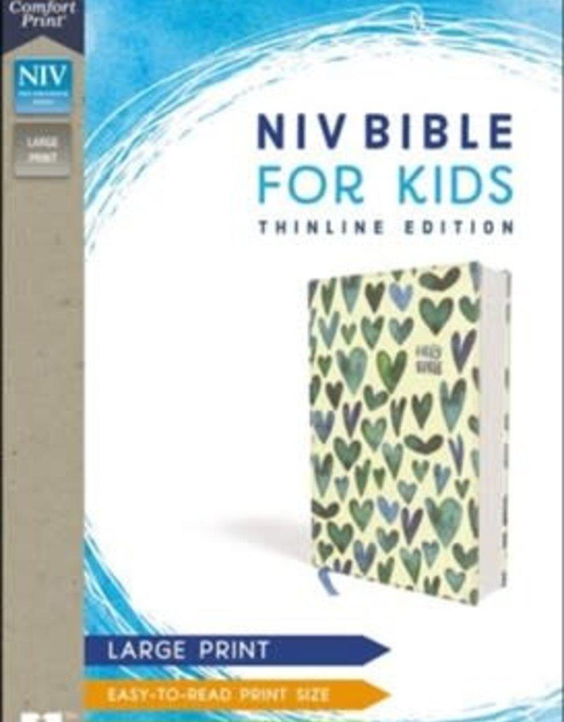 NIV Bible for Kids, large Print, Turq Hearts