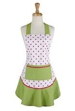 Pink & Green Polka Dot Ruffle Apron