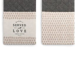 Served With Love Double Oven Mitt