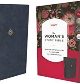 NKJV WOMANS STUDY BIB LS NAVY Indexed