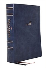 MacArthur STUDY BIBLE 2nd Edition, Leathersoft, Blue, Comfort Print