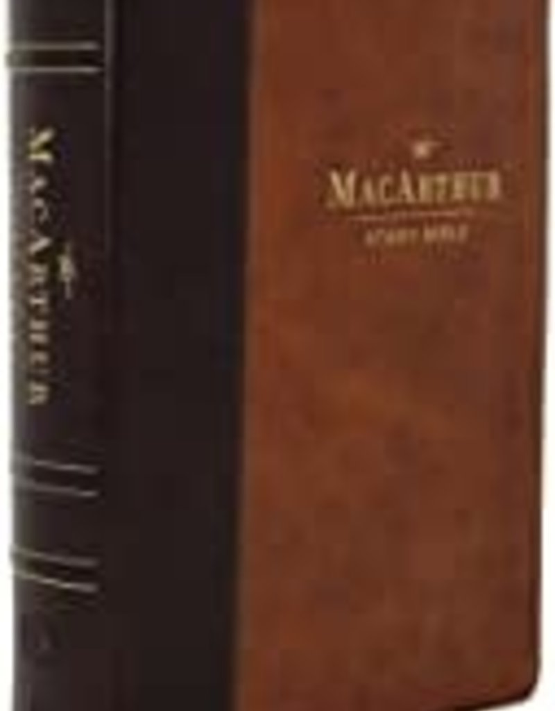 MacArthur Study Bible, 2nd Edition, Leathersoft, Brown, Comfort Print