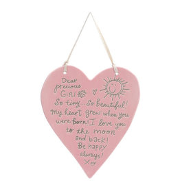 DEAR PRECIOUS GIRL HANGING PLAQUE