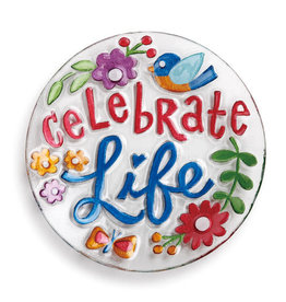 "Celebrate Life 11"" Round Plate"
