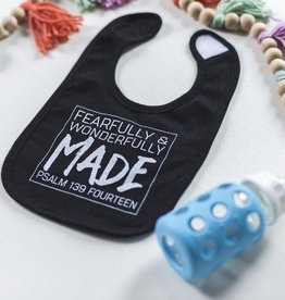 Fearfully & Wonderfully Made Black Bib