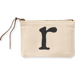 INITIAL CANVAS COSMETIC BAG  R