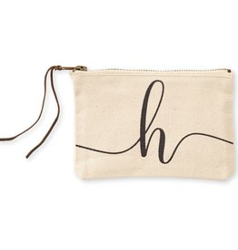 INITIAL CANVAS COSMETIC BAG  H