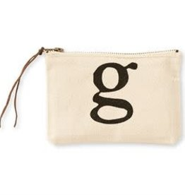 INITIAL CANVAS COSMETIC BAG  G