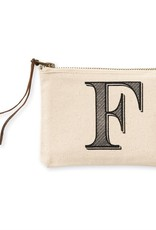 INITIAL CANVAS COSMETIC BAG  F