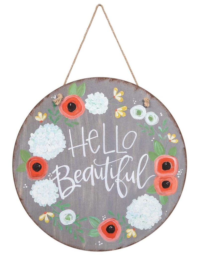 Hello Beautiful Door & Wall Sign
