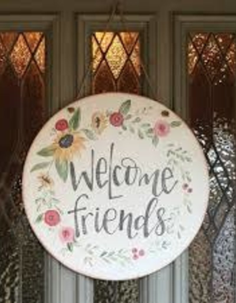 DOOR WALL SIGN WELCOME FRIENDS