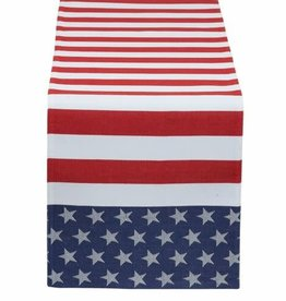 Stars & Stripes Jacquard Table Runner