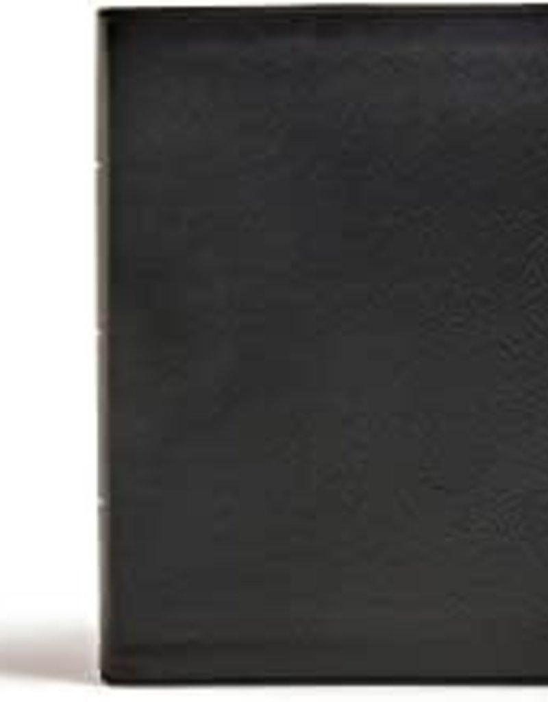 CSB Tony Evans Study Bible--genuine leather, black (indexed)