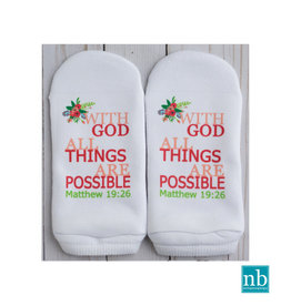 Standing On the WORD Socks - All Things Possible (Matt 19:26)