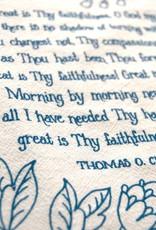 Great is Thy Faithfulness Hymn Tea Towel