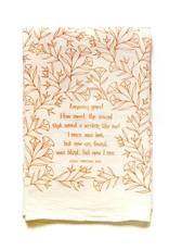 Amazing Grace Hymn Tea Towel