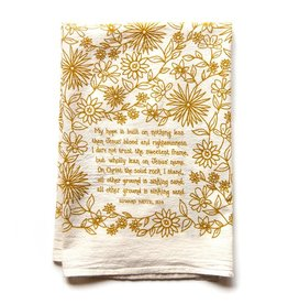 My Hope is Built Hymn Tea Towel