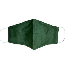 Green Cotton Wide Face Masks w/Filter Slip