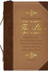 The Plans Brown & Gold Bible Cover LARGE