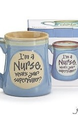 I'm A Nurse What's Your Superpower? Porcelain Coffee Mug 18 Oz