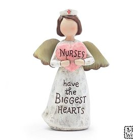 NURSE MESSAGE ANGEL SHAPE FIGURINE