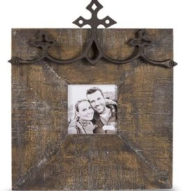 Mud pie :IRON CROSS DESK FRAME 4X4