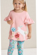 Mud Pie BUNNY TUNIC AND LEGGING SET ( 2T)