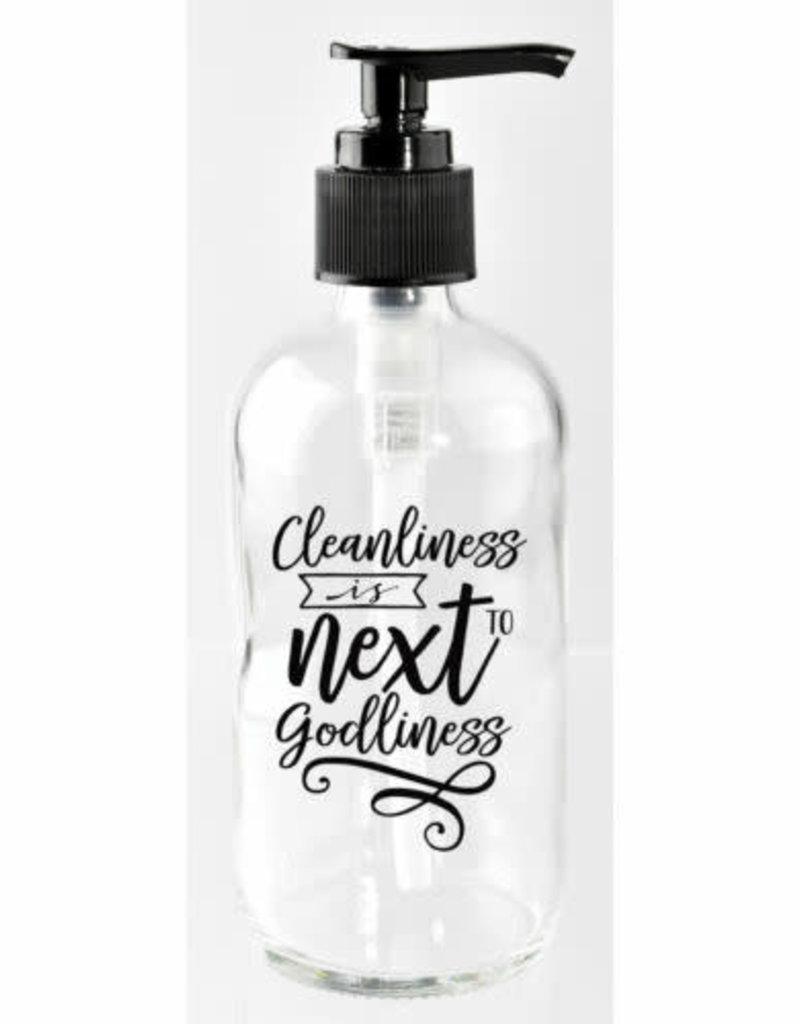 Soap Dispenser: Cleanliness is next to godliness 8 oz