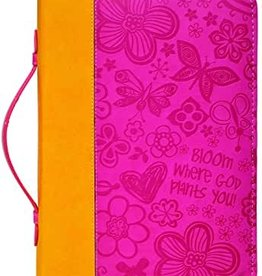 Bible Cover-Large-Pink-Bloom Where God Plants You-2018 Divine Details