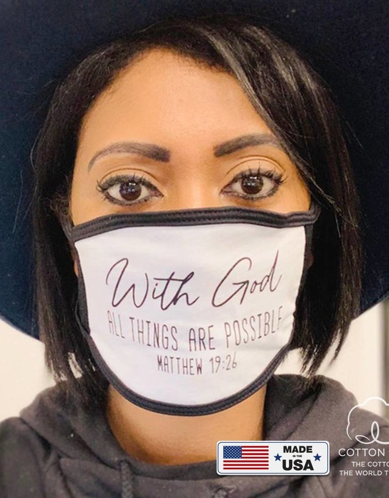 WITH GOD FACE MASK