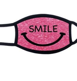 KIDS FACE MASK- 100 % Cotton Pink Smile