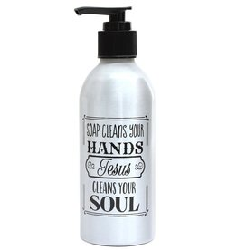 Soap Dispenser: Soap Cleans Your Hands, Jesus Cleans Your Soul
