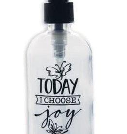 Soap Dispenser: Today I Choose Joy glass 8 oz