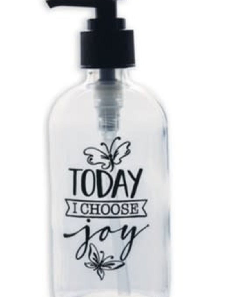 Soap Dispenser: Today I Choose Joy glass 8 oz