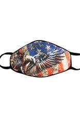 Face Mask: American Flag Eagle