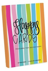 Postcard Book - Happy Cards Set of 20