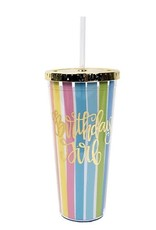 Birthday Girl Tumbler w/ Straw