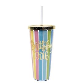 Birthday Girl Tumbler w/ Straw