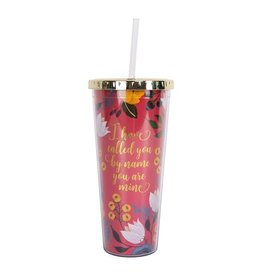 Called you by Name Floral Tumbler w/Straw