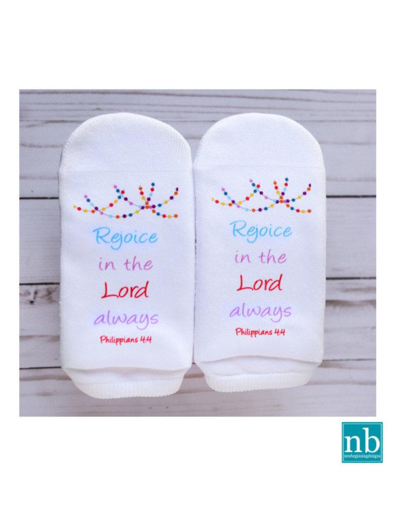 Standing On the WORD Socks -Rejoice (Philippians 4:4)