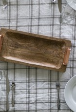 A Shared Table Tray with Handles- Mango Wood