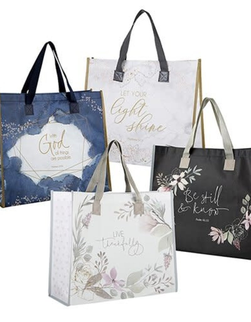 Laminated Tote Bags w/ Scripture