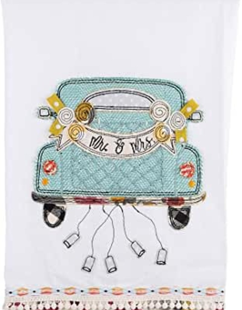 Tea Towel - Mr & Mrs Wedding Car