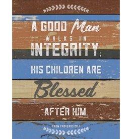 Wooden Wall Plaque- A GOOD MAN