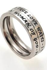 Princess Cut Ring True Love Waits - Size 5