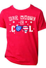 Boys T-shirt- Red White & Cool