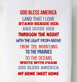 Patriotic Flour Sack Towel- God Bless America